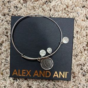 "Initial ""C"" silver alex and ani bracelet"